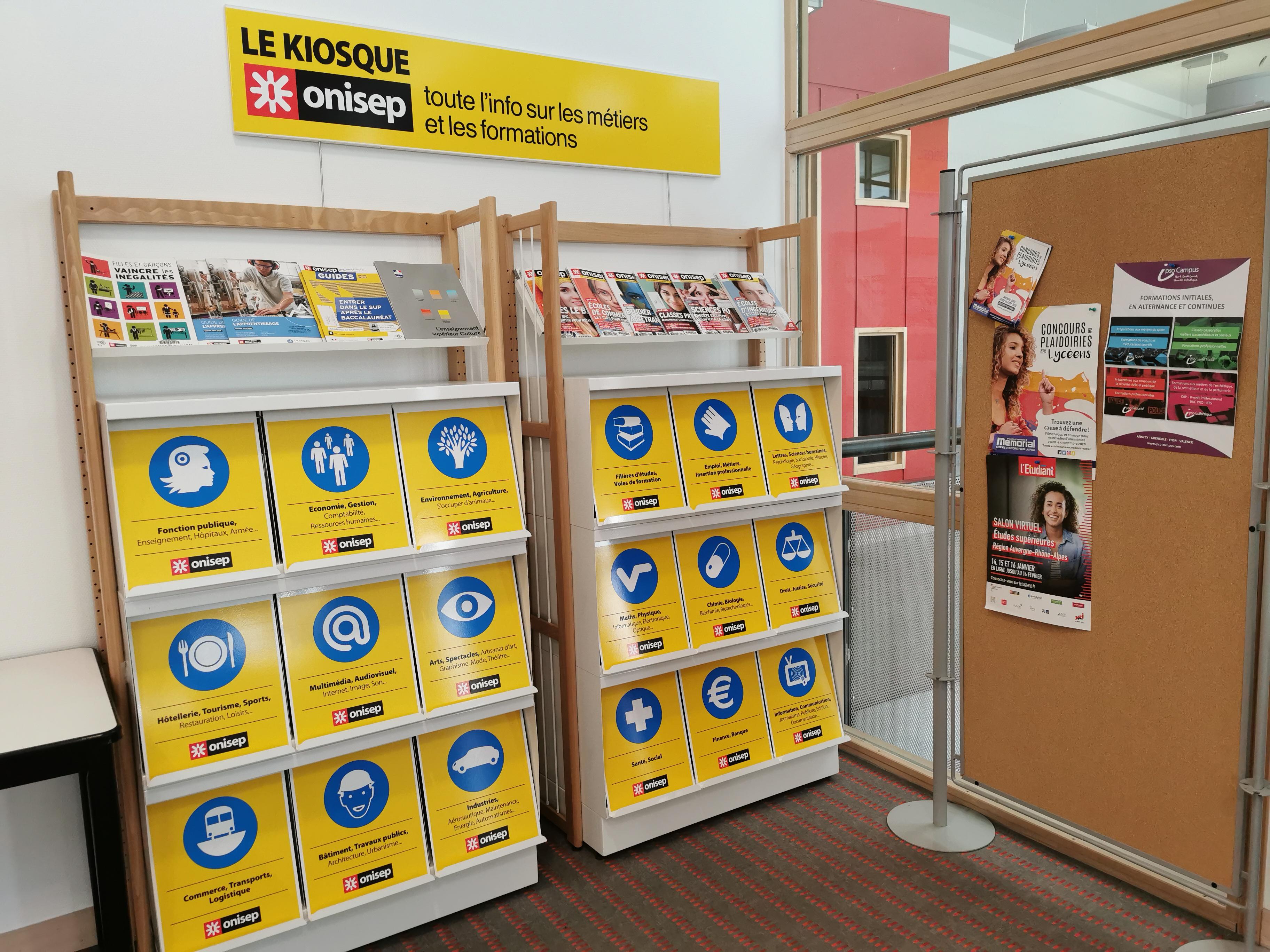 Cdi du lycée Paul Héroult - le kiosque d'orientation onisep